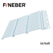 Софит FineBer с перфорацией 3-х досок 3,0*0,3 Белый (10 шт/уп)