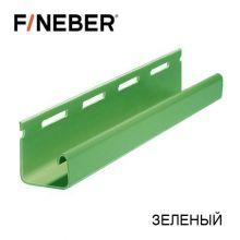 J-Профиль FineBer Plus Зеленый 3,66 м