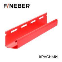 J-Профиль FineBer Plus Красный 3,8 м