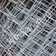 Сетка-рабица оцинкованная (яч. 50*50 / 1,5 / 10 м; 1,6 мм)