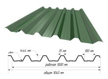 С-44 RAL 6002 Зеленый лист ш. 1,040