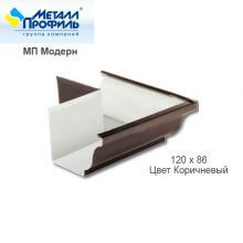 Угол желоба наружный 120х86 МП Модерн, коричневый
