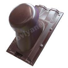 Выход вентиляции на профнастил С-21 (коричневый)